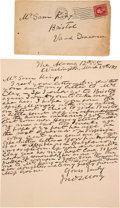"""Autographs:Military Figures, John S. Mosby: A Substantial Autograph Letter Signed by the Famous Confederate """"Grey Ghost"""".. ..."""