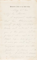 Autographs:Military Figures, Ulysses S. Grant: War-Date Autograph Letter Signed [ALS] to General George Meade.. ...