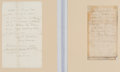 Autographs:Military Figures, George G. Meade: Battles of the Wilderness and Cold Harbor Field Orders.. ...