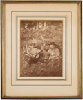 Autographs:Military Figures, George A. Custer: Presentation Photograph Twice-Signed on Verso.. ...