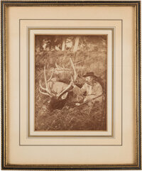 George A. Custer: Presentation Photograph Twice-Signed on Verso