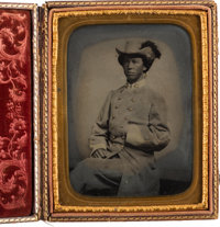 Confederate Cavalry Officer: Magnificent Half-Plate Tintype