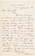 Autographs:U.S. Presidents, Abraham Lincoln: Autograph Letter Signed [ALS] as President.. ...