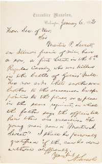 Abraham Lincoln: Autograph Letter Signed [ALS] as President