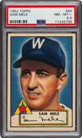 Baseball Cards:Singles (1950-1959), 1952 Topps Sam Mele #94 PSA NM-MT+ 8.5. ...