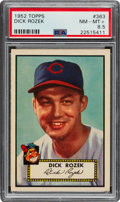 Baseball Cards:Singles (1950-1959), 1952 Topps Dick Rozek #363 PSA NM-MT+ 8.5 - Pop Two, Five Higher. ...