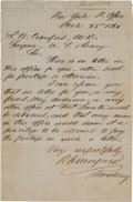 Autographs:Military Figures, [Fort Sumter]: Autographed Letter Signed Written from Fort Sumter in March 1861. . ...