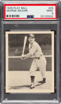 Baseball Cards:Singles (1930-1939), 1939 Play Ball George Selkirk #25 PSA Mint 9 - Pop Three, None Higher. ...