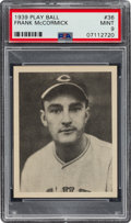 Baseball Cards:Singles (1930-1939), 1939 Play Ball Frank McCormick #36 PSA Mint 9 - Pop Two, None Higher. ...