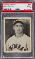 Baseball Cards:Singles (1930-1939), 1939 Play Ball Billy Myers #38 PSA Mint 9 - Pop Five, None Higher. ...