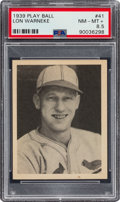 Baseball Cards:Singles (1930-1939), 1939 Play Ball Lon Warneke (All Caps) #41 PSA NM-MT+ 8.5 - Pop Two, Three Higher. ...