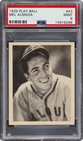 Baseball Cards:Singles (1930-1939), 1939 Play Ball Mel Almada (All Caps) #43 PSA Mint 9 - Pop Three, None Higher. ...