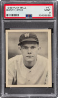Baseball Cards:Singles (1930-1939), 1939 Play Ball Buddy Lewis (Title Case) #47 PSA Mint 9 - Pop Two, None Higher. ...