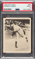 Baseball Cards:Singles (1930-1939), 1939 Play Ball Lefty Gomez (All Caps) #48 PSA Mint 9 - One Higher. ...