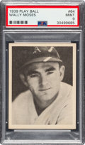 Baseball Cards:Singles (1930-1939), 1939 Play Ball Wally Moses (All Caps) #64 PSA Mint 9 - Pop Three, None Higher. ...