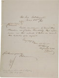 Militaria:Ephemera, Confederate General Roswell S. Ripley: Autograph Letter Signed (ALS) From Fort Sumter.. ...