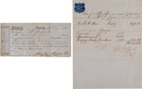 [Slave Trading]: Two Slave Sale Documents from Charleston, South Carolina, on Stationary of Slave Auctioneers. ... (Tota...