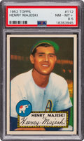 Baseball Cards:Singles (1950-1959), 1952 Topps Henry Majeski #112 PSA NM-MT+ 8.5 - Pop One, Three Higher....