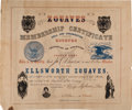 Militaria:Ephemera, Ellsworth Zouaves Membership Certificate And CDV's.. ...