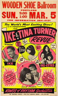 Ike & Tina Turner Revue 1967 Hot Pink & Yellow Day-Glo Concert Poster (AOR-1.72)