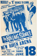 Music Memorabilia:Posters, The Rolling Stones 1964 Concert Handbill for Show Canceled Due to Slow Ticket Sales...
