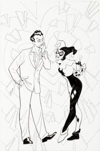 Amanda Conner Harley Loves Joker #1 Cover Original Art (DC, 2018)