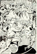 Original Comic Art:Splash Pages, Don Heck and George Roussos (as George Bell) The Avengers Annual #1 Splash Page 45 Original Art (Marve...