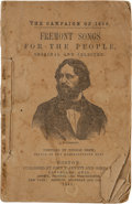 Political:Small Paper (pre-1896), John C. Frémont: Scarce 1856 Campaign Songster. ...