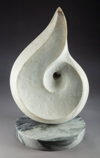 Robert Pollock (American, 20th Century) Untitled #3, 2004 Carved Italian Marble 25 x 10 x 14 inch