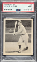 Baseball Cards:Singles (1930-1939), 1939 Play Ball George Selkirk (Title Case) #25 PSA Mint 9 - Pop Three, None Higher. ...