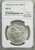 1900-O/CC $1 Top-100 AU55 NGC. NGC Census: (61/2456). PCGS Population: (91/5958). CDN: $180 Whsle. Bid for problem-free...