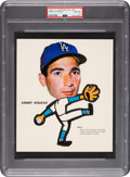 Baseball Cards:Singles (1960-1969), 1963 Los Angeles Dodgers Pin-Ups Sandy Koufax PSA Gem Mint 10 - Pop One! ...