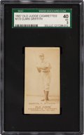 Baseball Cards:Singles (Pre-1930), 1887-90 N172 Old Judge Clark Griffith (#201-1) SGC 40 VG 3....