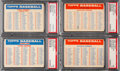 Baseball Cards:Lots, 1957 Topps Checklists PSA-Graded Complete Set (4). ...