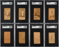 Baseball Cards:Lots, 1887-90 N172 Old Judge SGC-Graded Collection (8). ...