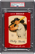 Baseball Cards:Singles (1950-1959), 1952 Star-Cal Decals Type 1 Mickey Mantle #70-G PSA Authentic. ...