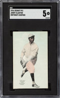 Baseball Cards:Singles (Pre-1930), 1916 E137 Zeenut Jimmy Claxton SGC EX 5 - The Finest SGC Graded Example! ...