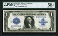 Large Size:Silver Certificates, Fr. 238 $1 1923 Silver Certificate PMG Choice About Unc 58 EPQ.. ...