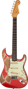 Musical Instruments:Electric Guitars, 1964 Fender Stratocaster Fiesta Red Solid Body Electric Guitar, Serial # L 49003.. ...