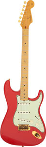Musical Instruments:Electric Guitars, John Entwistle's Circa 1959 Fender Stratocaster Fiesta Red Solid Body Electric Guitar, Serial # 32882.. ...