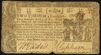 Maryland April 10, 1774 $2/3 Very Good-Fine
