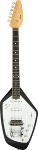 Musical Instruments:Electric Guitars, Circa 1965-1967 Vox Phantom VI Black Solid Body Electric Guitar, Serial # 45842.. ...