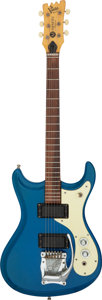 Musical Instruments:Electric Guitars, 1965 Mosrite Mark V Pacific Blue Solid Body Electric Guitar, Serial # B1214.. ...