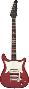 Musical Instruments:Electric Guitars, 1964 Epiphone Coronet Cherry Solid Body Electric Guitar, Serial # 266174....