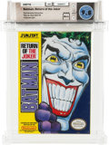 Video Games:Nintendo, Batman: Return of the Joker [Oval SOQ TM] - Carolina Collection Wata 9.8 A++ Sealed NES Sunsoft 1991 USA....