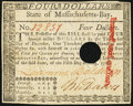 Massachusetts May 5, 1780 $4 New