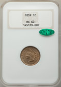 1859 1C MS62 NGC. CAC. NGC Census: (266/996). PCGS Population: (307/1641). CDN: $350 Whsle. Bid for problem-free NGC/PCG...