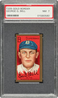 Baseball Cards:Singles (Pre-1930), 1911 T205 Gold Border George Bell PSA NM 7 - Only One Higher. ...