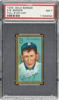 "Baseball Cards:Singles (Pre-1930), 1911 T205 Gold Border E.B. Barger (Full ""B"" on Cap) PSA NM 7 - Only One Higher. ..."