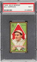 Baseball Cards:Singles (Pre-1930), 1911 T205 Gold Border Bill Carrigan PSA NM 7 - Pop Three, Only One Higher. ...